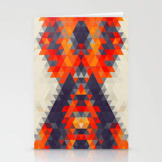Abstract Triangle Mountain Stationery Cards