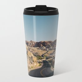 Windy Desert Road Travel Mug