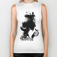 soldier Biker Tanks featuring WOMAN SOLDIER by kravic