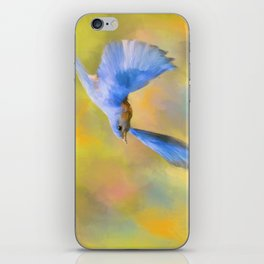 Bluebird Spring Flight iPhone Skin