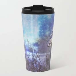 The Northern Harrier and The Moon Travel Mug