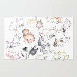 Sleepy French Bulldog Puppies Rug
