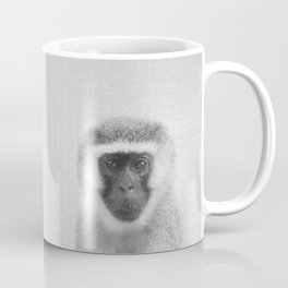 Monkey - Black & White Coffee Mug