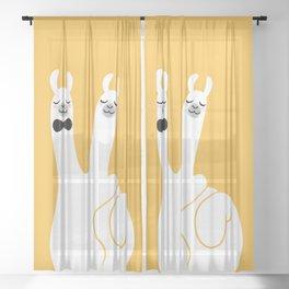 Llama Win Sheer Curtain