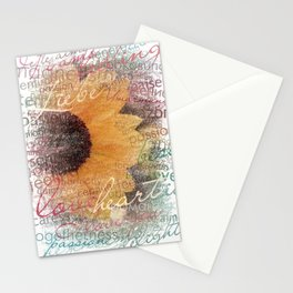 Words of Love Sunflower Stationery Cards