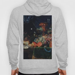 Fruits and oysters by Abraham Mignon (1660-1679) Hoody