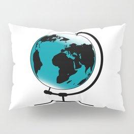 Mounted Globe On Rotating Swivel Pillow Sham