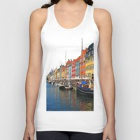 "copenhagen Tank Tops featuring New Port ""Copenhagen"" by Alan Pary"