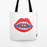 dentist Tote Bags featuring COOL by Nick Nelson