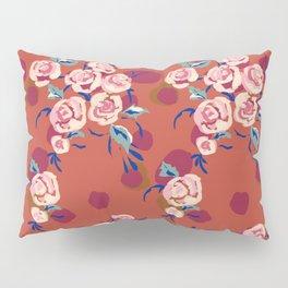 Painty Roses Burnt Orange Pillow Sham