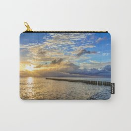 Beach in the morning after sunrise on Usedom Carry-All Pouch