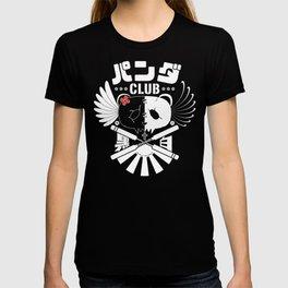 Panda Club Logo Design (White) T-shirt