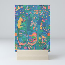 Abstract Color Splash Mini Art Print
