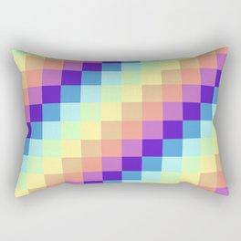 Diagonal Pixel Colorful Rectangular Pillow