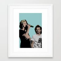 larry stylinson Framed Art Prints featuring Pop Art Larry Stylinson  by JodiYoung