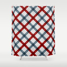 Colorful Geometric Strips Pattern - Kitchen Napkin Style Shower Curtain