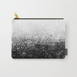 fading paint drops - black and white - spray painted color splash Carry-All Pouch