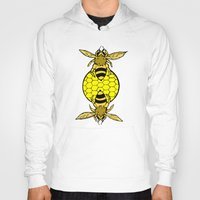 bees Hoodies featuring Bees by Chelsey Hamilton