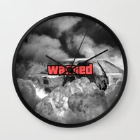 gta Wall Clocks featuring Wasted GTA by JOlorful