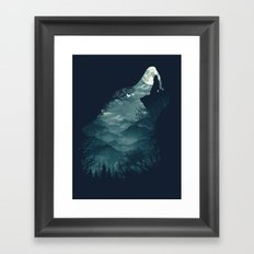 Hungry Wolf Framed Art Print