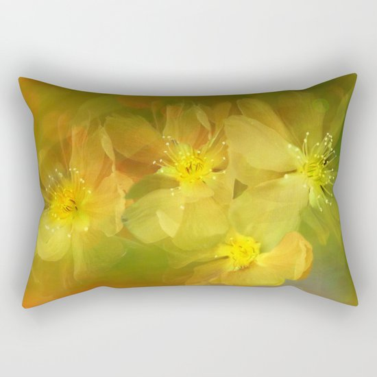 Early Morning Floral Abstract Rectangular Pillow