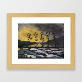 Forever lonely trees (The Danish Girl interpretation) Framed Art Print