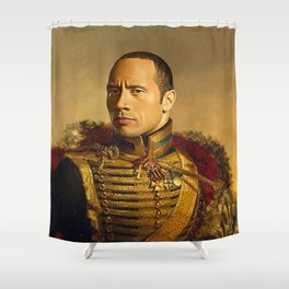 Dwayne Johnson Shower Curtain
