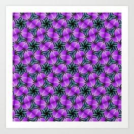 Springtime blossoms in purple Art Print