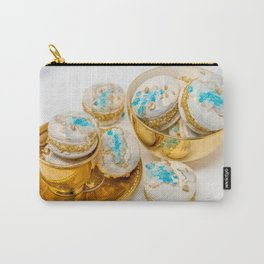Blue Geode Macarons Carry-All Pouch