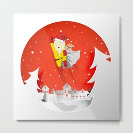 The Saitama Claus Metal Print