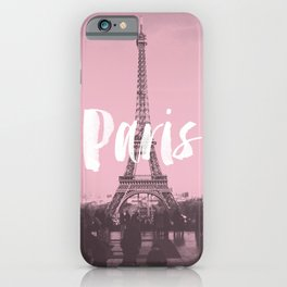 Pink Paris Eiffel Tower iPhone Case