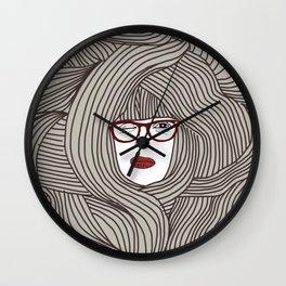 Long Hair Woman Wall Clock
