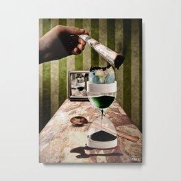 Planet Cup Metal Print