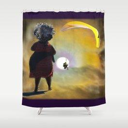 Moon Glide Shower Curtain