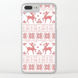 Christmas pattern. Cross-stitch Clear iPhone Case