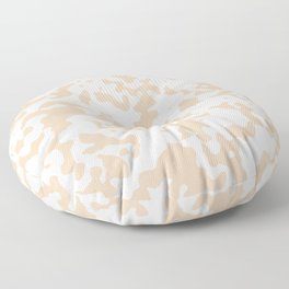 Spots - White and Pastel Brown Floor Pillow