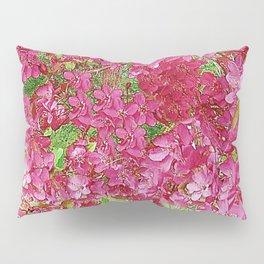 GREEN & FUCHSIA PINK CRABAPPLE FLOWER SPRING ART Pillow Sham