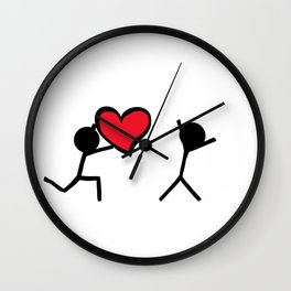 I love you by Oliver Henggeler Wall Clock