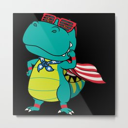 Dinosaur super hero Metal Print