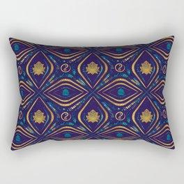 Lotus and OM symbol Luxury Pattern Rectangular Pillow