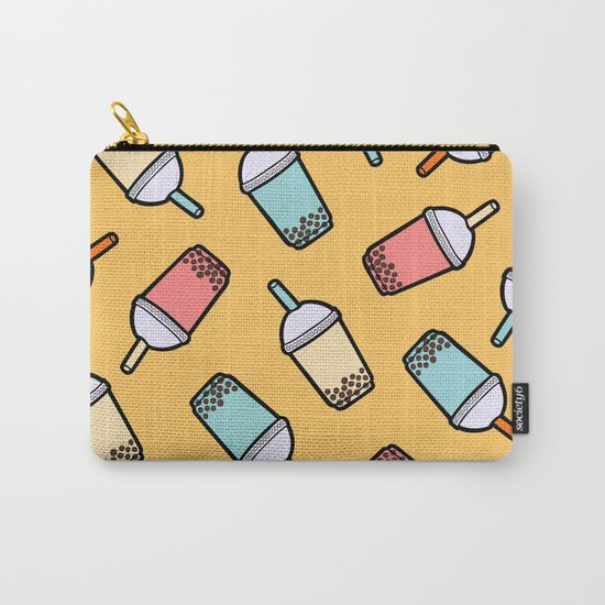 Bubble Tea Pattern Carry-All Pouch
