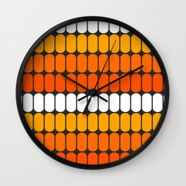 Flame Capsule Wall Clock