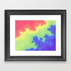 Rainbow Pride Flag Galaxy Framed Art Print