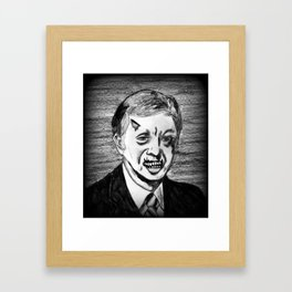 39. Zombie Jimmy Carter  Framed Art Print