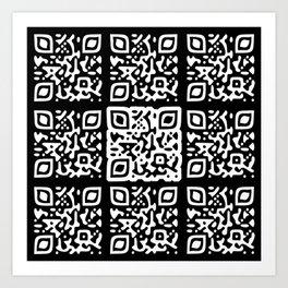 QR Clothes Black Art Print