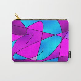 ABSTRACT CURVES #2 (Purples, Violets, Fuchsias & Turquoises) Carry-All Pouch