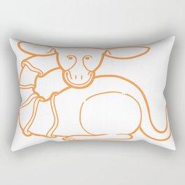 Medieval Cutie Rectangular Pillow