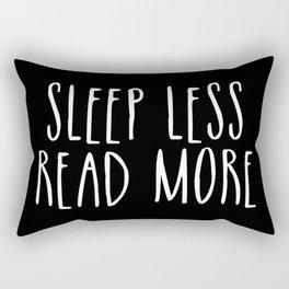 Sleep less, read more - inverted Rectangular Pillow