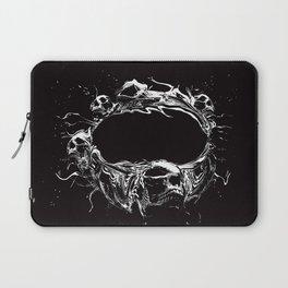 Skull Space Station Laptop Sleeve
