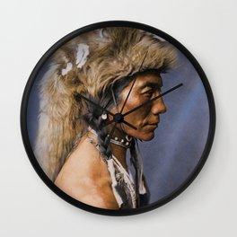 Yellow Kidney - Piegan - Blackfoot American Indian Wall Clock